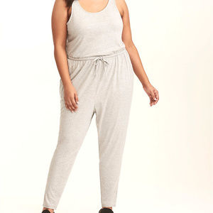2x Torrid One Piece Jersey Gray Knit Jumpsuit